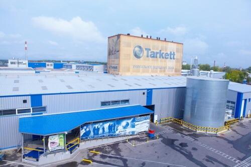 Производсто ламината на заводе Tarkett